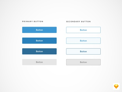Primary & Secondary Button States app minimal freebie sketch file download clean ux ui button states interface buttons button