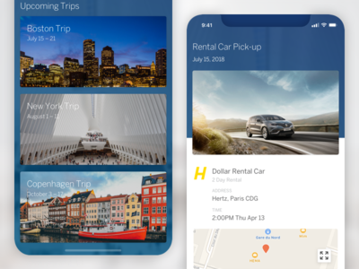 Mobile Itinerary App