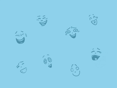 laughter and smiles illustration expressions smile laughter