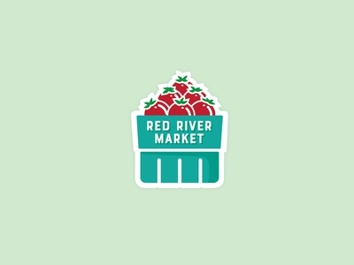 Red River Market Enamel Pins 2