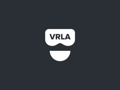 VRLA Logo immersive technology branding meetup virtual reality los angeles los angeles expo augmented reality ar logo virtual reality vr vrla