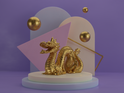 3D Dragon b3d blender dragon 3d illustration 3d 3d art 3d render