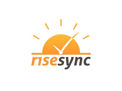 Rise Sync Logo logomark icon sunlight sun coaching logo design logo sunrise risesync rise sync