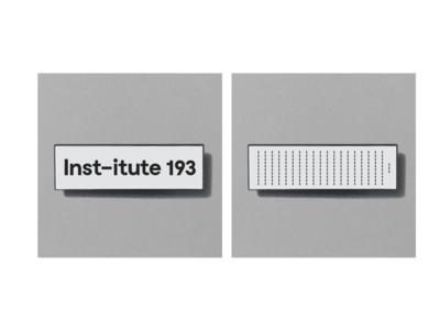 Institute 193 enamel pin