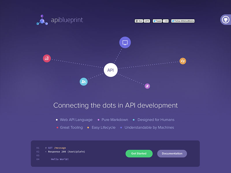 API Blueprint api blueprint web icons development design button dots flat