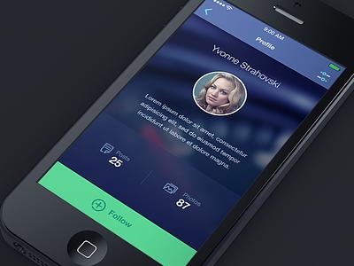 Profile profile ios iphone ui kit button photo icon