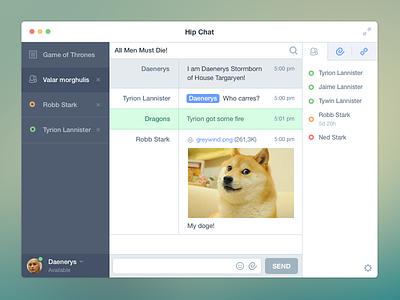 HipChat Redesign hip chat design app doge icons messenger