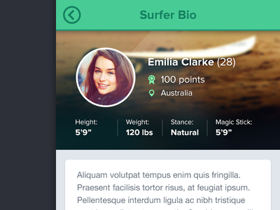 Surfer Bio