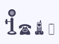Evolution of the Telephone || Icon Set