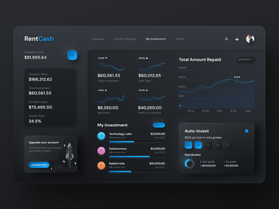 Neomorphism Investment Dashboard soft softui neomorphism skeuomorph 3d 2d interaction interactive interface dark crypto dashboard chart animation color ux ui