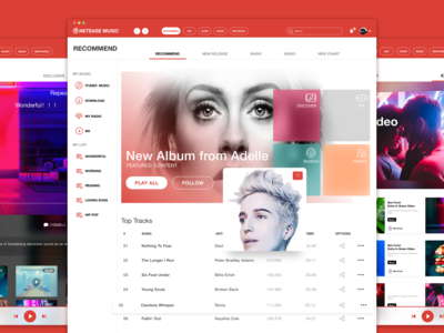 Netease Music redesign