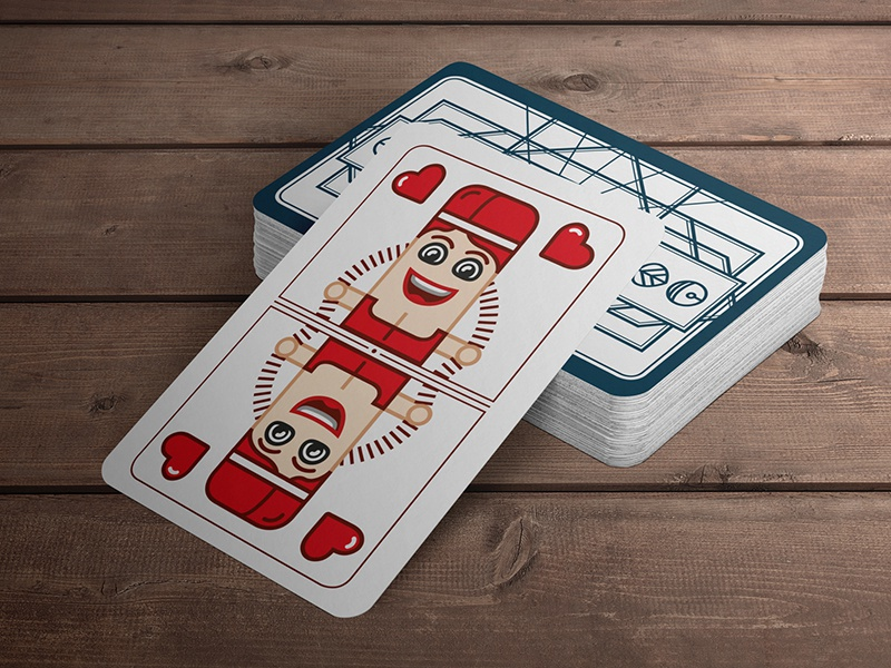Martial Card design for my children sketch paper packaging flat design deck cards playing kids card