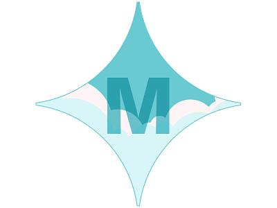 M clouds logo identity