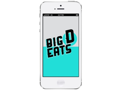Big D Eats App dallas app logo identity
