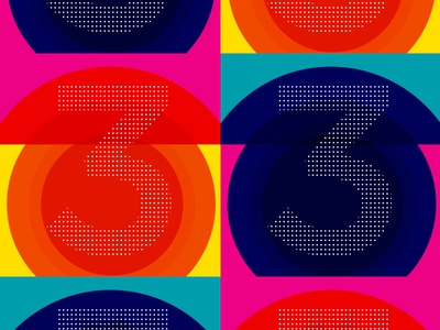 33 typography numbers 33 bright 3