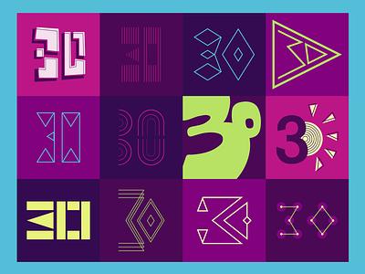 Thirty Shmirty design logo vector typography graphic design adobe illustrator logo design