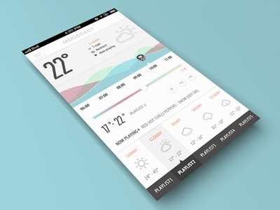 Moodcast Weatherfully Musical UI