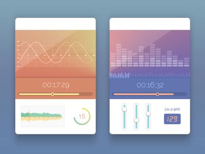 UI Widgets ui widgets music mixer oscilloscope photoshop