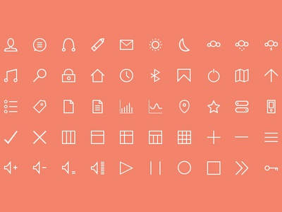 50 FREE Icons photoshop icons freebie free psd giveaway thin thin icons line shapes