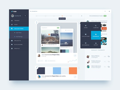 Hixle Feed network design tools recommendations dashboard community designer trends feed hixle