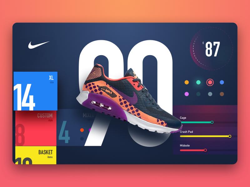 Nike90 Store store ui modern metro material design flat futuristic website sketch ultra 90 nike