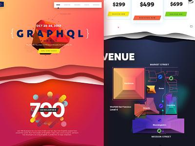 GraphQL Design Exploration clean colourful futuristic 3d shadows typography gradients exploration sketch graphql