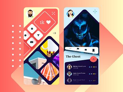 Boom app design ui sketch