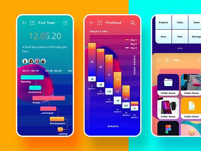 Dynamo UI Kit ui icons colours typography symbols gradients productivity futuristic styles responsive mockups mobile sketch ui kit