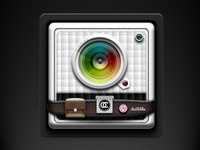 Padded Camera Icon with Pouch