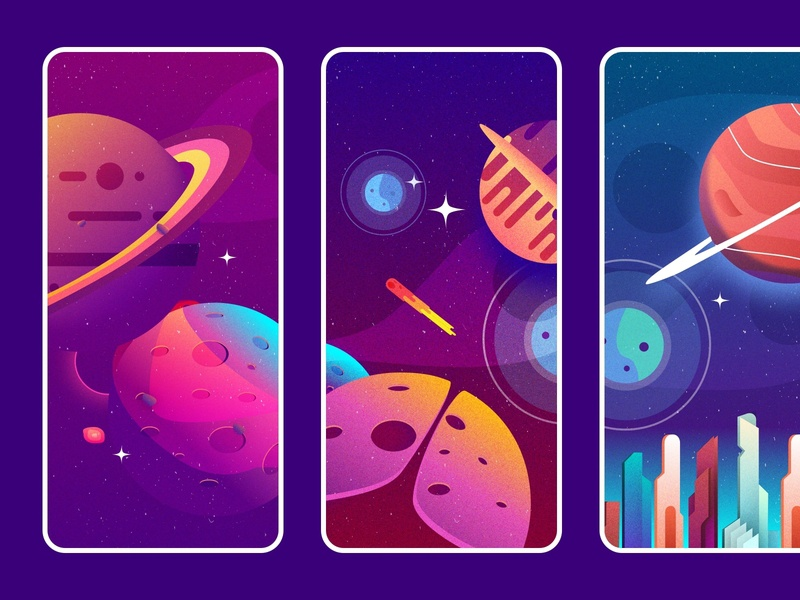 Free Space Wallpapers sketch vector illustration vector plexicle app iphone wallpapers free freebie space graphic design