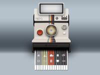 Polaroid Land Camera with Built-in Shredder
