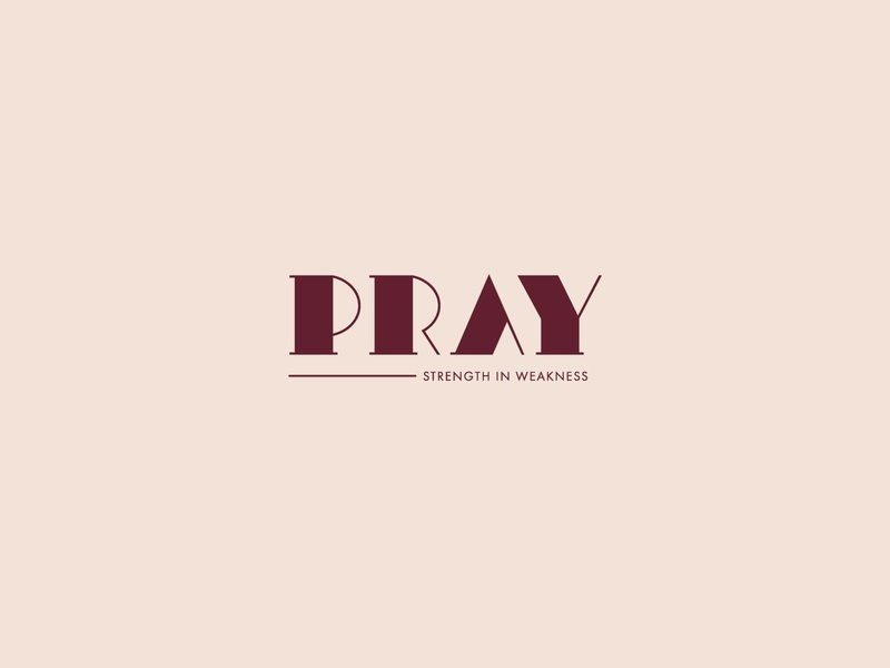 Pray Logo typography font type negative space identity icon brand mark clean symbol prayer faith logo pray