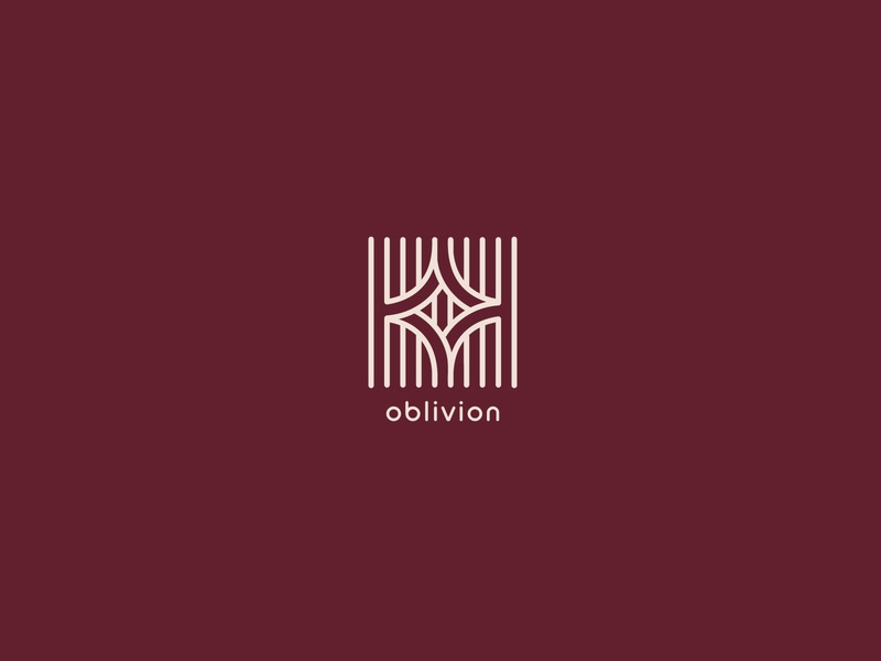 Oblivion Logo geometry geometric art whole lines design type negative space identity icon brand mark clean symbol logo