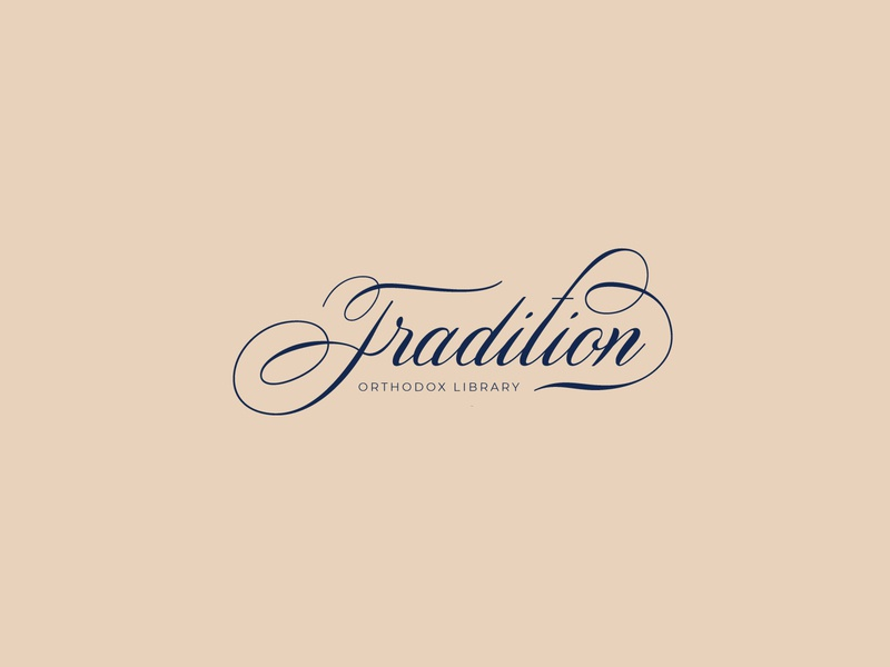 Tradition Logo old classic type font identity brand icon mark clean symbol culture read moral values hope faith orthodox library logo tradition