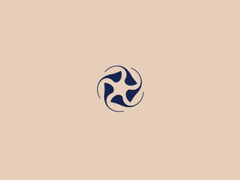 Turbine Logo turn circle fast design negative space identity brand icon clean mark symbol turbine speed logo round wind
