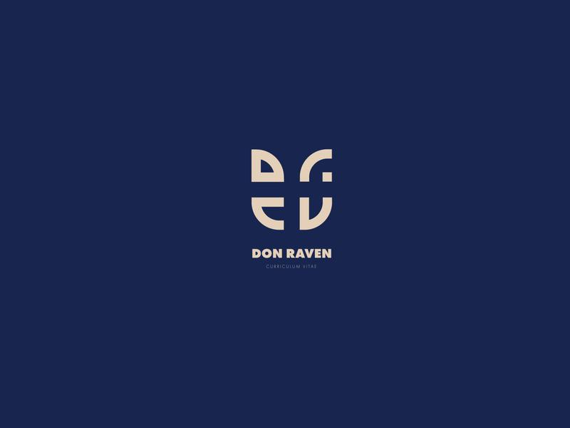 Don Raven Logo personal resume vitae curriculum name typography font type identity brand icon clean mark symbol logo