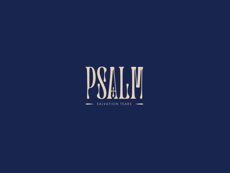 Psalm Logo hope trust believe bible church psalm letters typography font type identity brand icon clean mark symbol logo