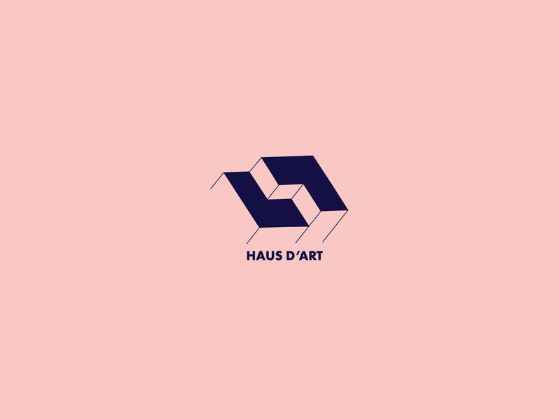 Haus D'art house haus art line geometric square architechture architect negative space design clean brand icon mark symbol logo