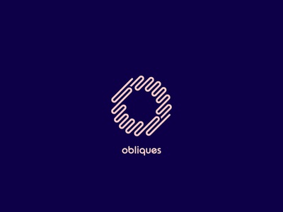 Obliques Logo diagonal rise type typeface combination negative space brand identity clean icon symbol mark logo letter o lines pipes oblique