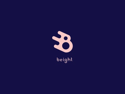 Beight Logo 8 fast speed fluid negative space identity icon symbol mark brand clean logo number letter b eight