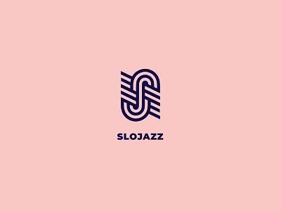 Slo Jazz Logo s line type combination negative space identity icon symbol mark brand clean logo lines swing festival music slow jazz