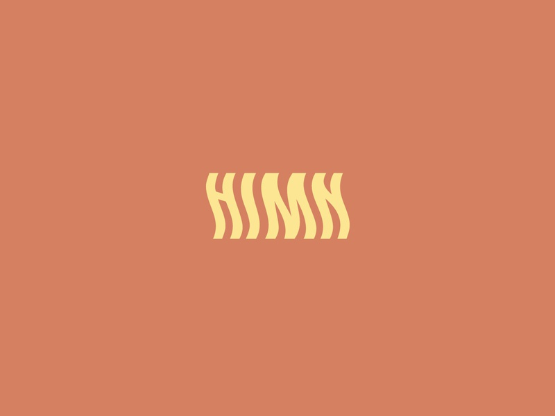 Hymn Logo flow rythm typogaphy typeface symbol type icon mark clean brand logo christianity voice noise music song faith hymn