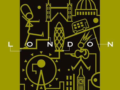 London holiday travel city illustration design koichi fujii