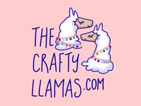 The Crafty Llamas Illustration Logo