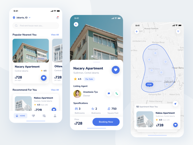 Real Estate - Exploration exploration uiuxdesign ux ui mobile app userinterface booking apartment design property clean minimalism realestate rent house mobile