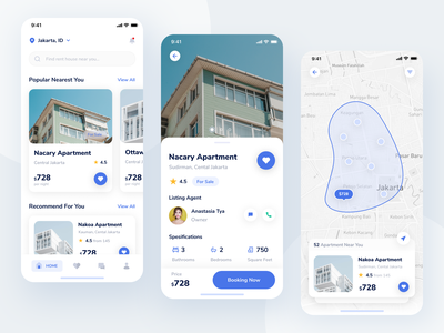 Real Estate - Exploration exploration uiuxdesign ux ui mobile app userinterface booking apartment design property clean minimalism realestate rent house mobile