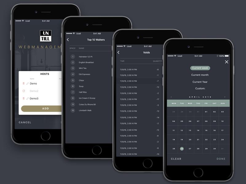 Back Office Mobile App management app back office tracking select design ux ui reports mobile list table calendar dashboard list mobile app design ios app mobile