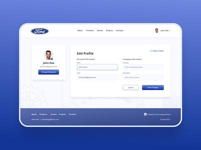 Edit user profile form ui  ux profile user profile