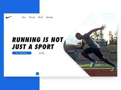 Nike Running Hero nike webdesign design web hero uiux ux ui