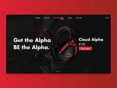Hyperex Alpha Landig Page Concept web lading landingpage hero ux ui